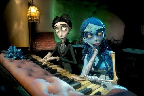 the piano scene
