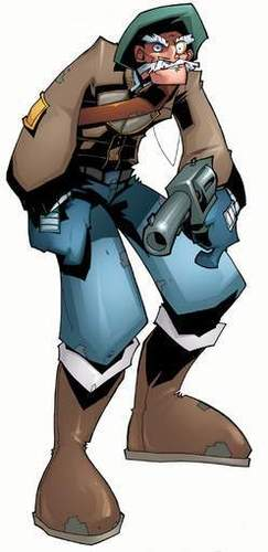 Cartoon Captain Ash