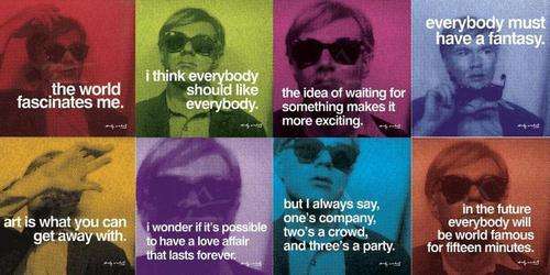 Andy Warhol wallpaper titled warhol quotes
