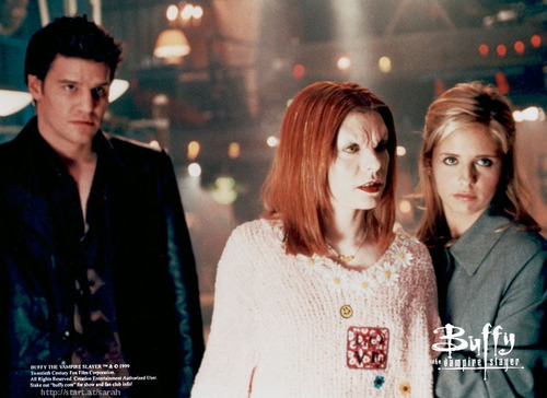 willow as vampire,angel & buff