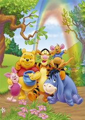 winnie the pooh wallpaper entitled winnie the pooh and friends