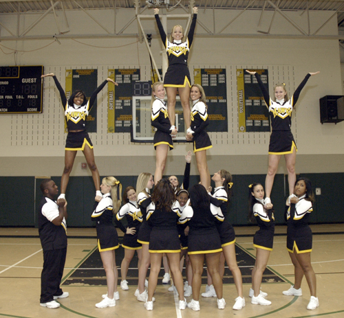High School Cheerleading Stunts