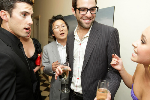 zachary at the pre emmy party