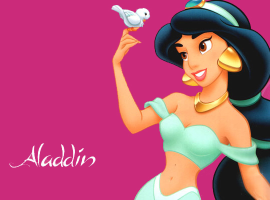 #4: Jasmine - Beautiful locks, rock-hard abs and she's crazy rich? Cons: Maybe her nose is a little big...