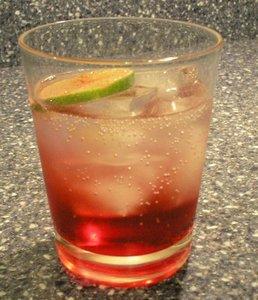 A delicious raspberry, rasiberi limeade