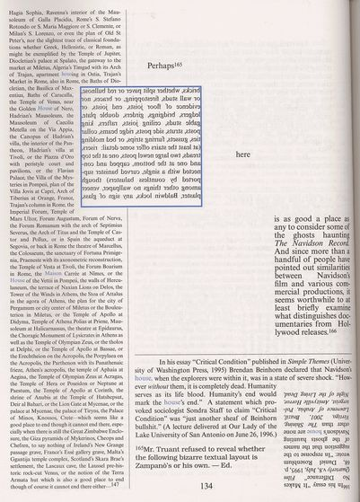 An example of the text in House of Leaves (Page 134)