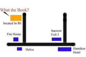 A necessary map to get to What the Book?
