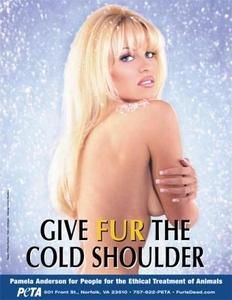 Pamela Anderson goes PETA.