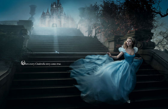 Scarlett Johansson as cinderella wearing a $325,000 tiara from Harry Winston