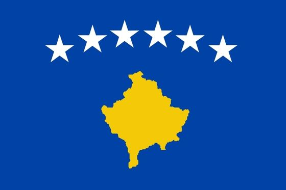 The new flag of Kosovo