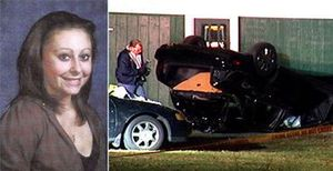 The vehicle involved in the crash (Right) 15 taon Old Samantha Callow (Left)
