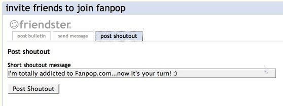 Post a shoutout on your Friendster profile!