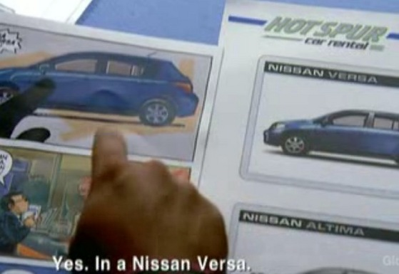 In case あなた forgot the model name...that was a Nissan Versa.