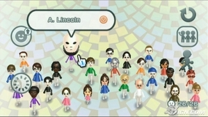 The Mii Plaza where all the Mii's 你 have made gather