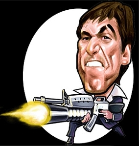 Cartoon Image of Al Pacino's Tony Montana