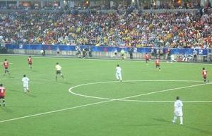 Picture I took in an Argentinean Soccer game!