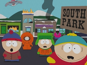 The boys of South Park: Stan, Kenny, Kyle and Cartman