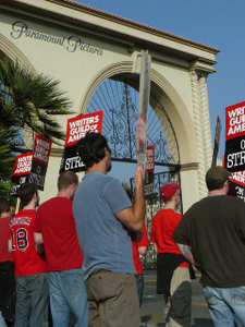 Strikers outside Paramount