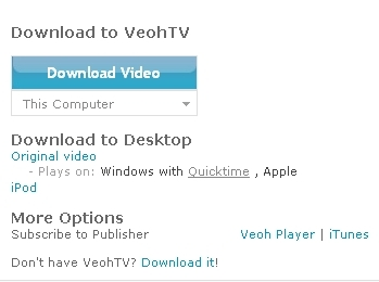 Image C: Download Button