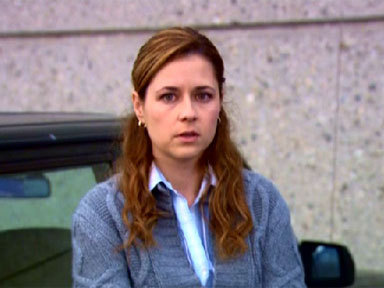 Pam realizes Karen and Jim are dating