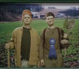 Dwight and Mose on Schrute Farm