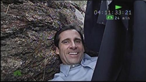 Micahel Scott in the wilderness