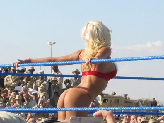 Torrie Wilson and the Troops
