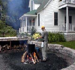 Preparing the 鱼 boil.
