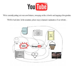 One of the baru-baru ini YouTube outage messages.