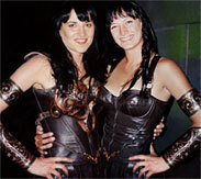 The Two Xenas: Lucy Lawless and Zoe Bell.