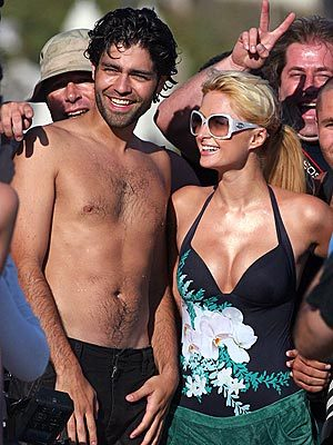 Adrian Grenier and Paris