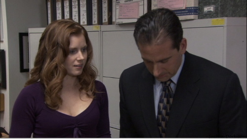 "Amy as Katy on ""The Office"""