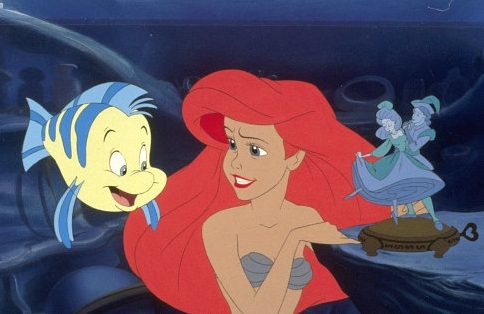 Walt Disney Production Cels Flounder Princess Ariel The Little Mermaid Photo 44999 Fanpop