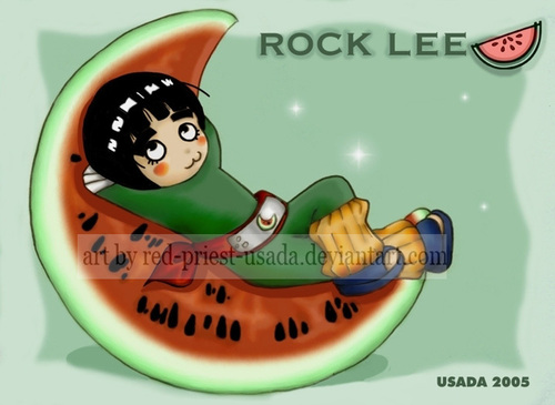 Chibi Fruit Ninja - Rock Lee