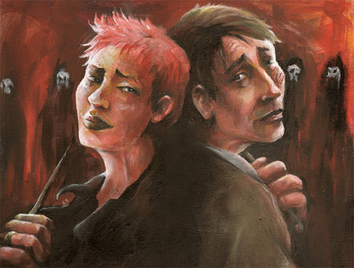 DH پرستار Art - Lupin and Tonks