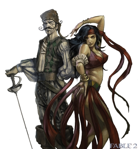 "Fable 2 concept art ""Characters 1"""