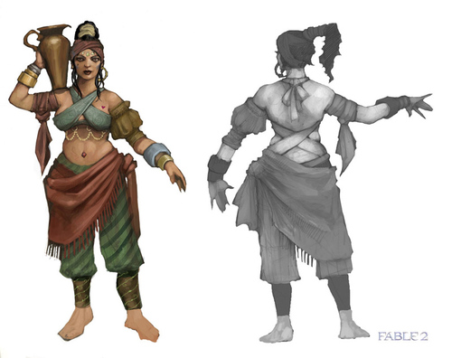 "Fable 2 concept art ""Romani lady"""