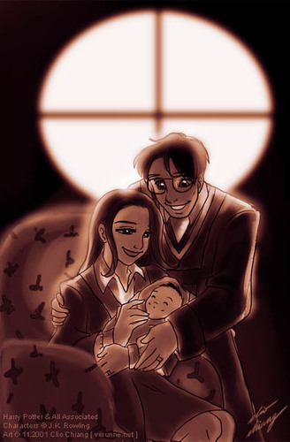 Harry & Ginny with baby