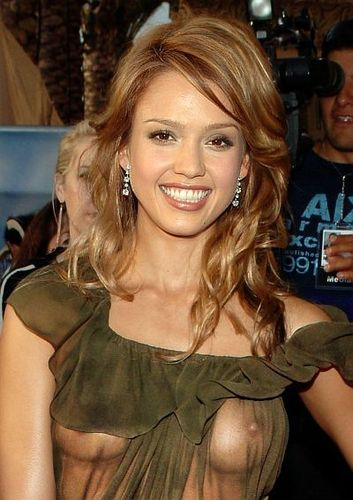 Jessica Alba See Through dress