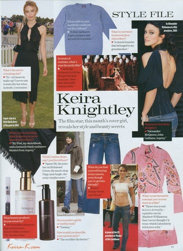 July 04 - Keira Knightley (UK)