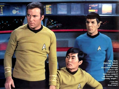 Kirk, Sulu and Spock