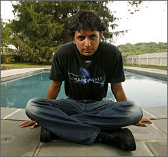 M. Night Shyamalan by pool