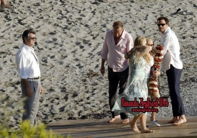 On the set of Mamma Mia!