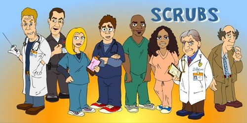 Scrubs as a Cartoon