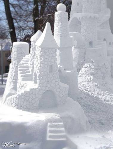 Snow kastil, castle
