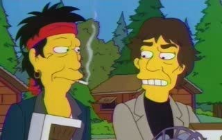 The Stones on the Simpsons