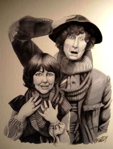 Tom Baker And Elisabeth Sladen
