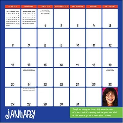 Ugly Betty 2008 Calendar